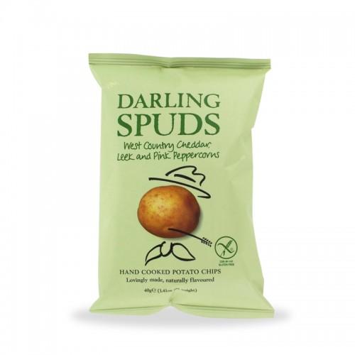 Darling Spuds – Patatine al formaggio, porri e pepe rosa