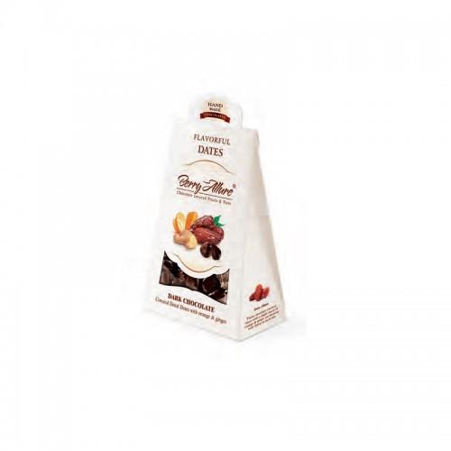Doti - Frutta ricoperta di cioccolato, gusto Datteri con zenzero e arancia
