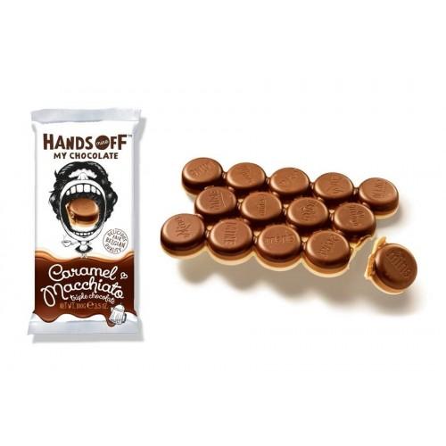 Hands Off - Tavoletta multistrato fondente,latte caramello e bianco caffè