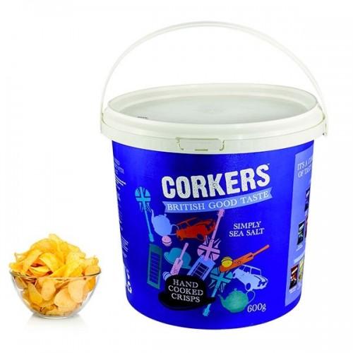 Corkers - Patatine Gourmet in Bidone