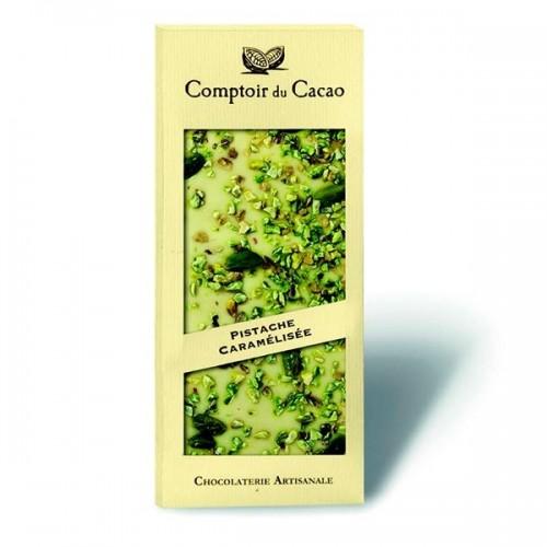 Comptoir Du Cacao - Tavoletta Bianco e pistacchi caramellati