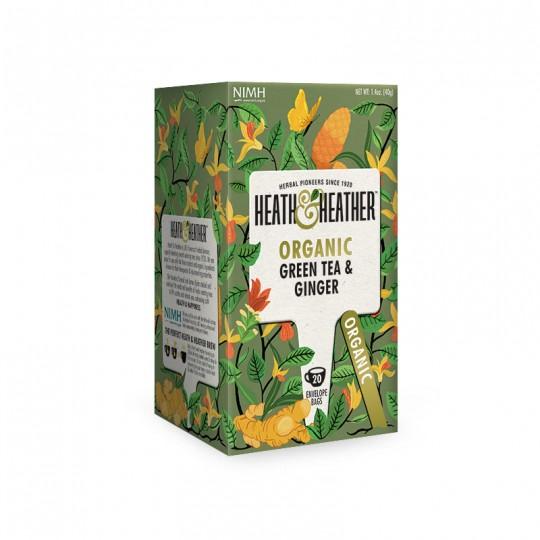 Heat & Heather - Linea Organic Range - Tè verde e zenzero